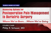 Assessing Options for Postoperative Pain Management in Bariatric Surgery: Where We've Been….Where We're Going.
