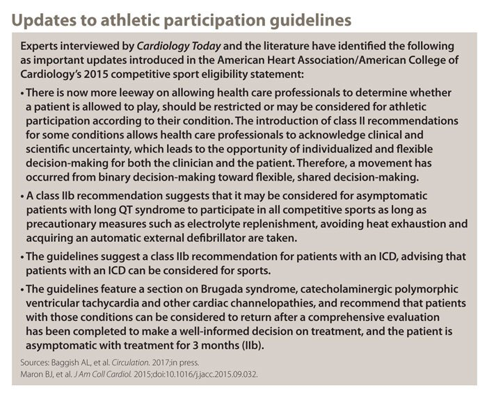 Updates to athletic participation guidelines