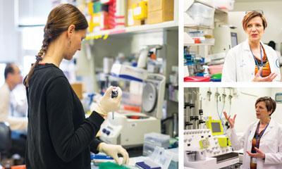 Rivière in lab