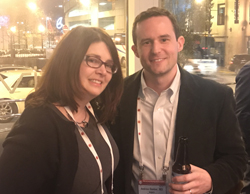 Nicole R. Grieselhuber, MD, PhD, and Andrew Dunbar, MD, joined their fellow HemOnc Today Next Gen Innovators at a reception on Dec. 10 in Atlanta.