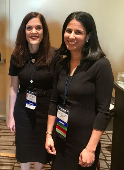 Amy Comander, MD, and Sara Tolaney, MD, MPH, joined their fellow Next Gen Innovators at a reception on June 3 in Chicago.