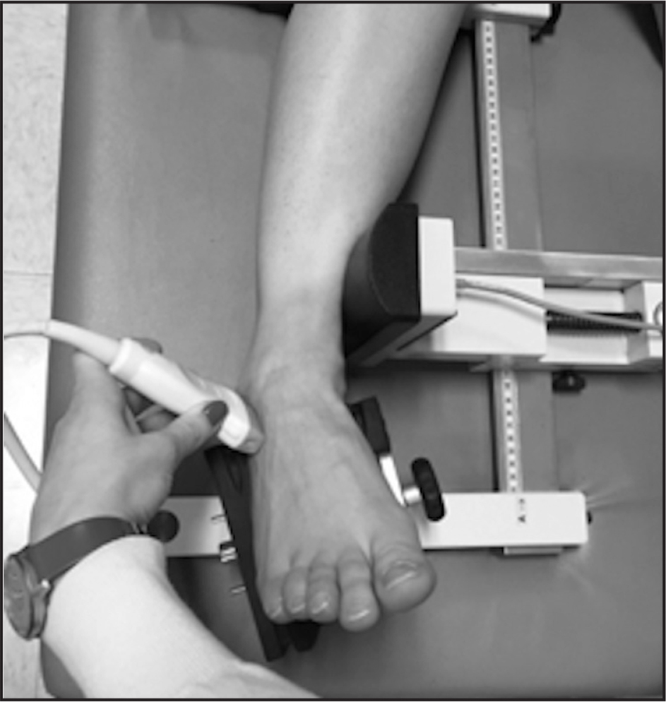 Common stress method placing the ankle into an inversion/talar tilt test position.
