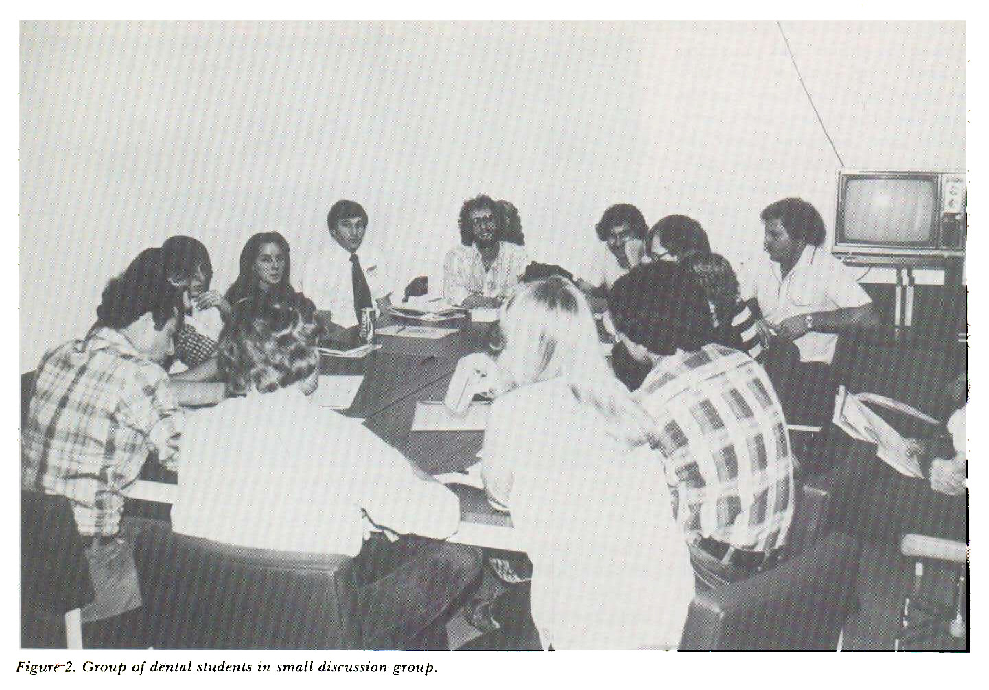 Figure 2. Group of dental students in small discussion group.
