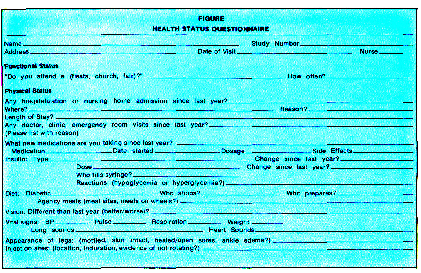 FIGUREHEALTH STATUS QUESTIONNAIRE