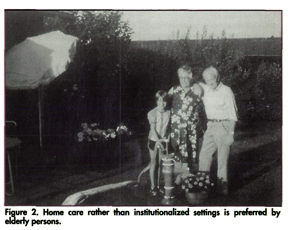 Figure 2. Home care rather than institutionalized settings is preferred by elderly persons.