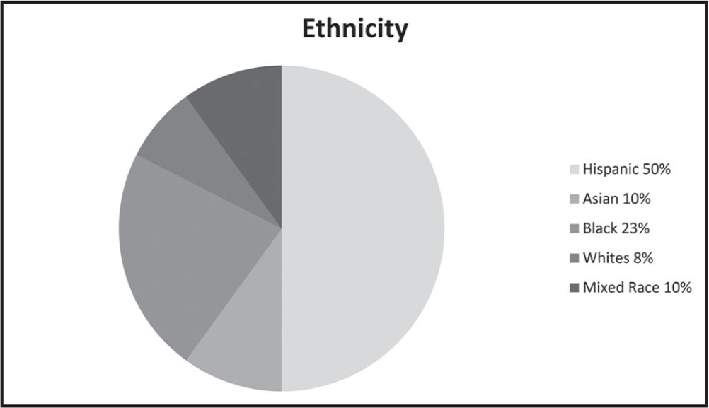 Participant demographics related to ethnicity.