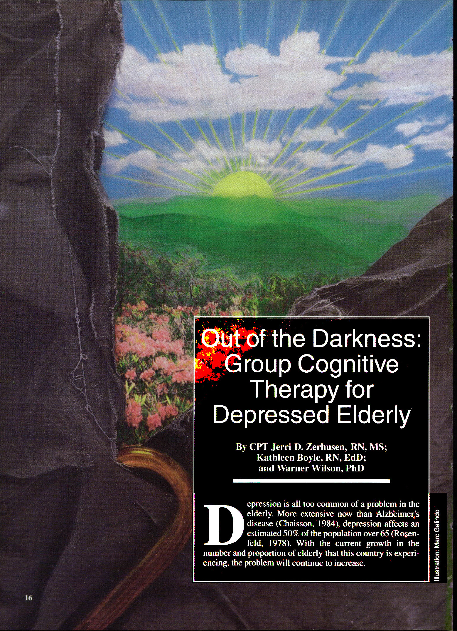 cognitive therapy and the elderly Keywords: cognitive therapy, depression, elderly people introduction following  an expansion in the range of psychological treatments used to treat psychiatric.