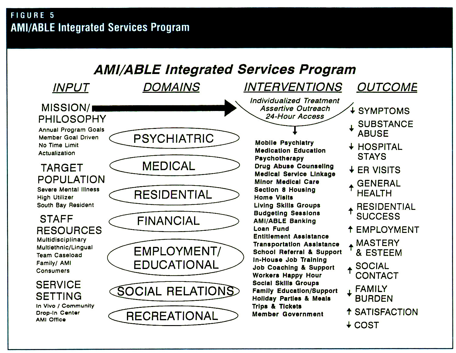 FIGURE 5AMI/ABLE Integrated Services Program