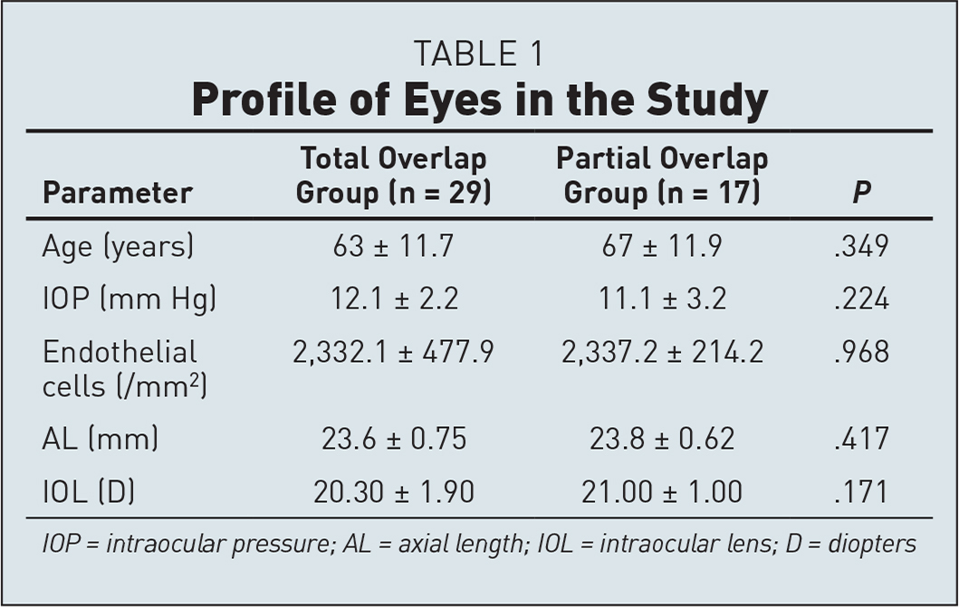 Profile of Eyes in the Study