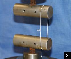 Figure 3: The suture loop being tensioned