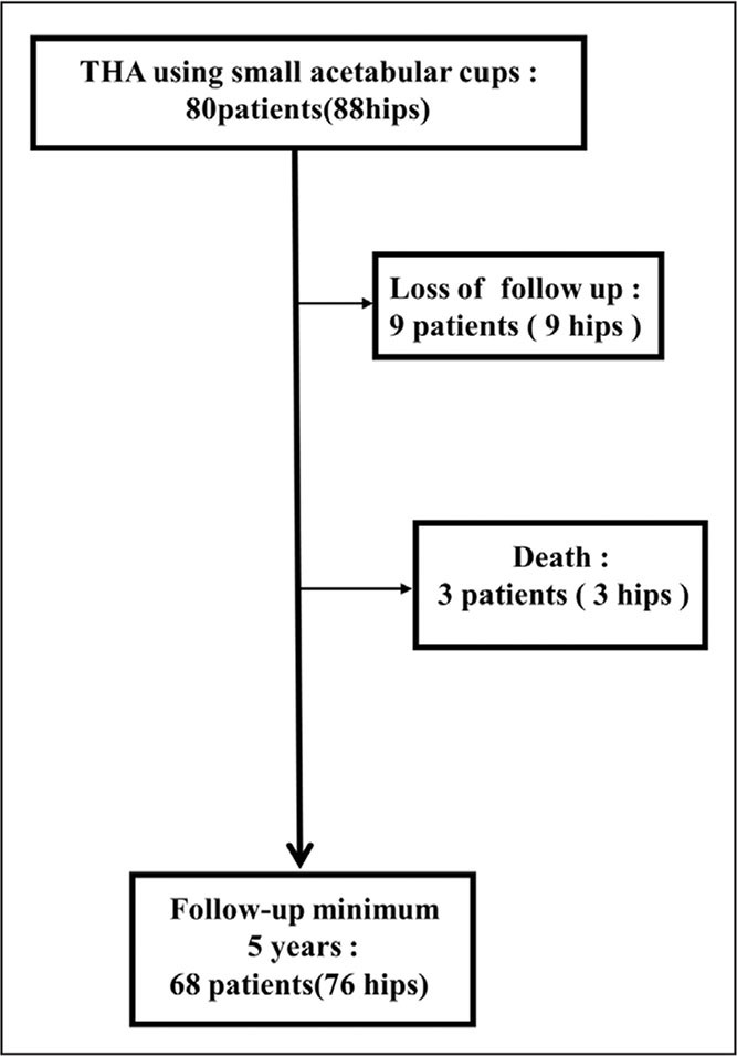 Flow chart of this study. Abbreviation: THA, total hip arthroplasty.