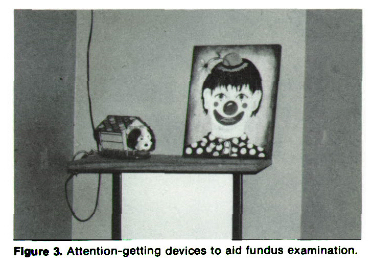 Figure 3. Attention-getting devices to aid fundus examination.