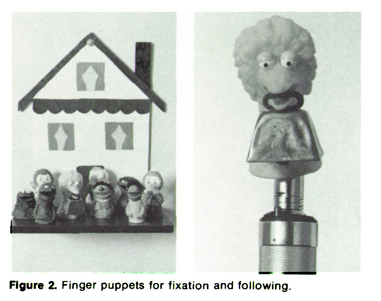 Figure 2. Finger puppets for fixation and following.