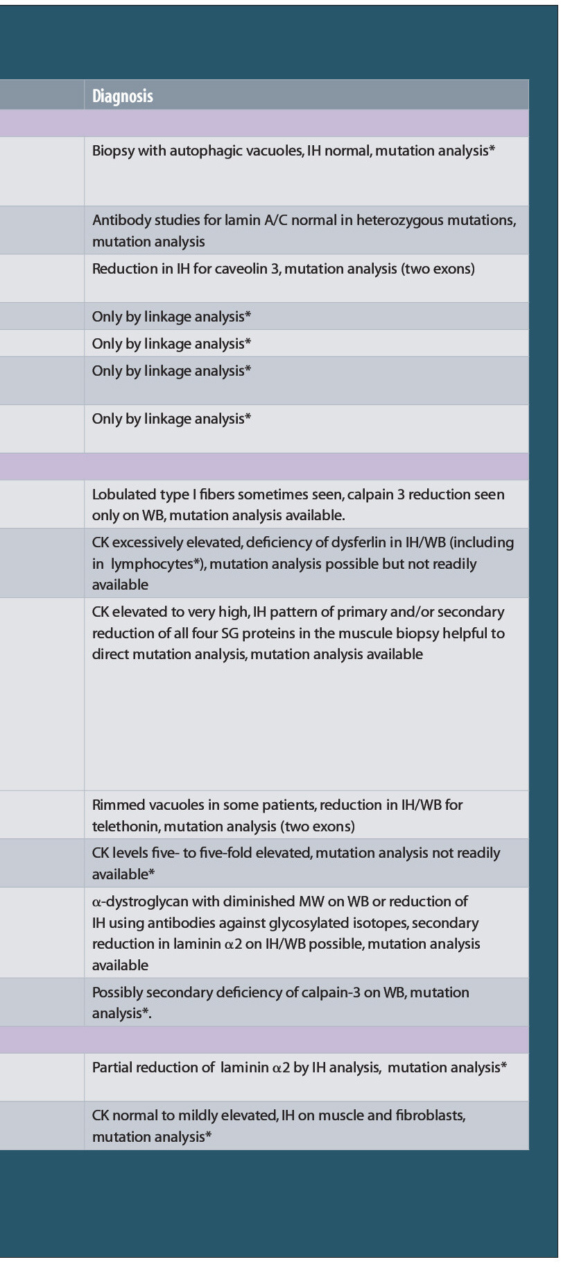 TABLE.Classification of the Limb-girdle Muscular Dystrophies (LGMD)