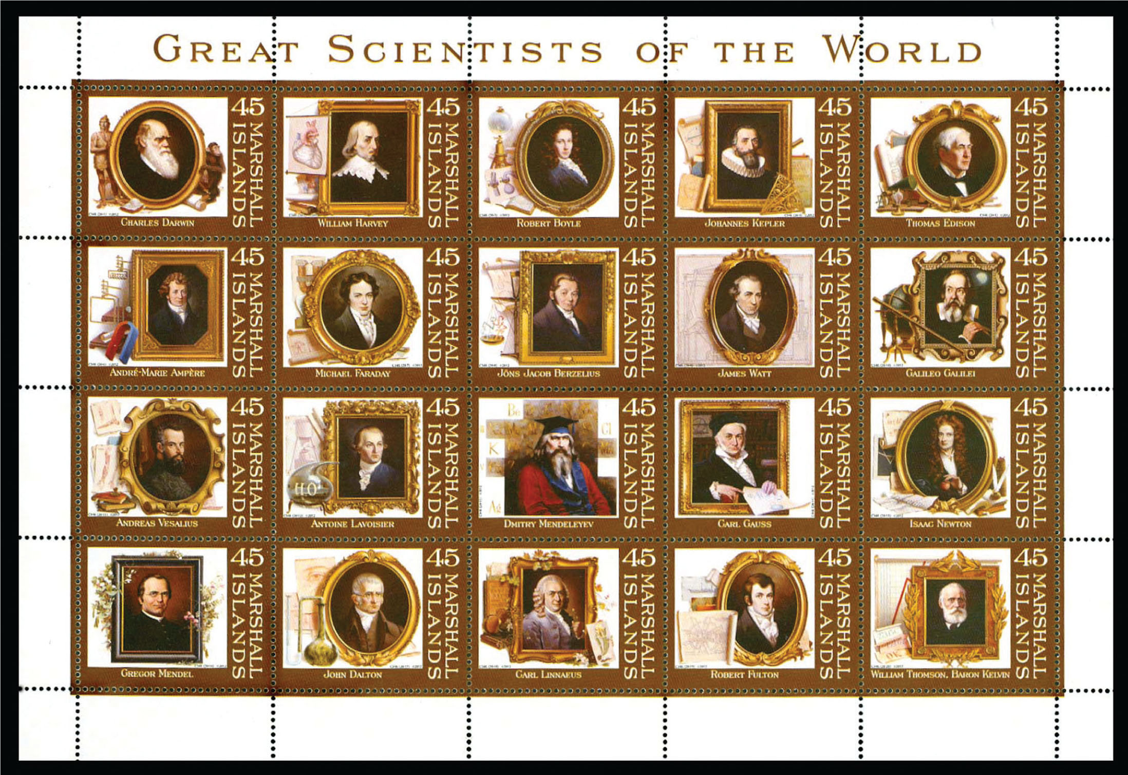 "Souvenir sheet issued in 2012 by the Marshall Islands titled ""Great Scientists of the World.""Image courtesy of Stanford T. Shulman, MD. Reprinted with permission."