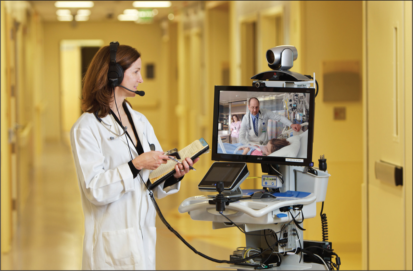 A variety of telemedicine endpoints are available to allow pediatric specialists to consult on children hospitalized at their community hospital.