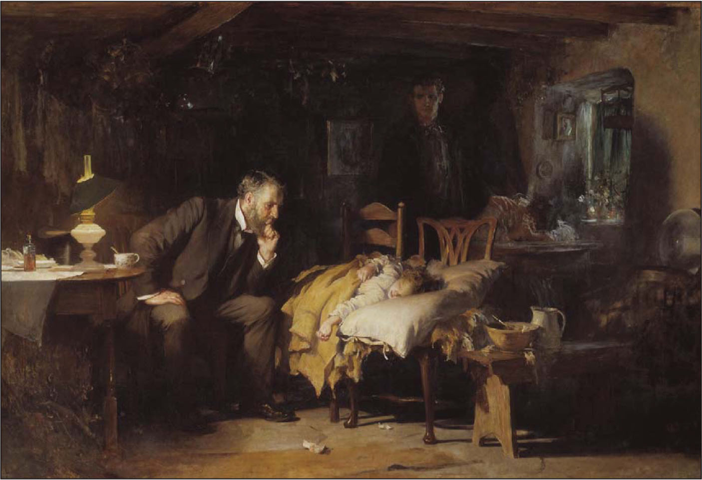 """A painting by illustrator Sir Luke Fildes entitled """"The Doctor."""" Reprinted with permission from the Tate Museum.3"""