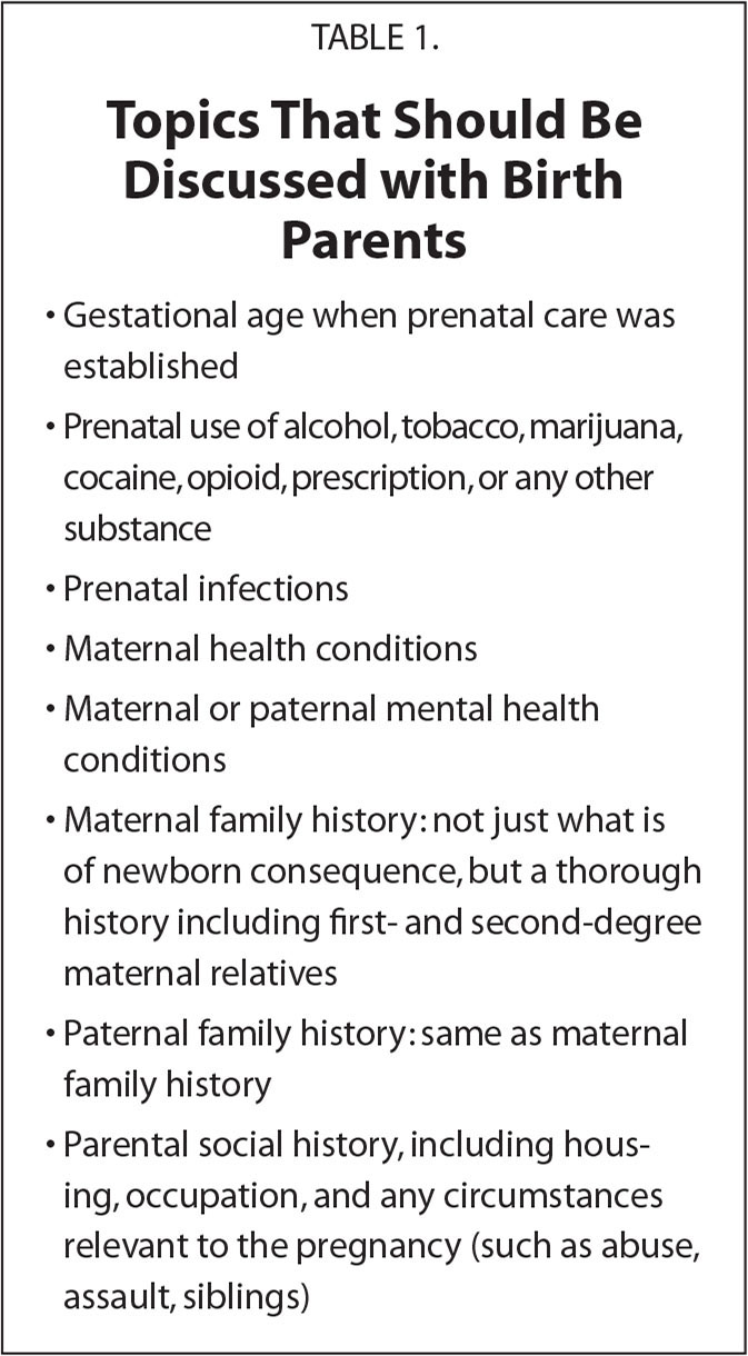 Topics That Should Be Discussed with Birth Parents