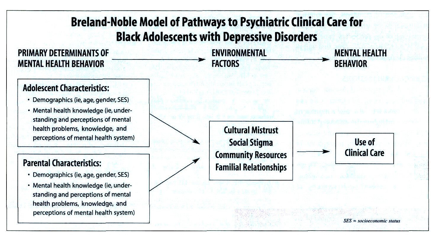 Breland-Noble Model of Pathways to Psychiatric Clinical Care for Black Adolescents with Depressive Disorders