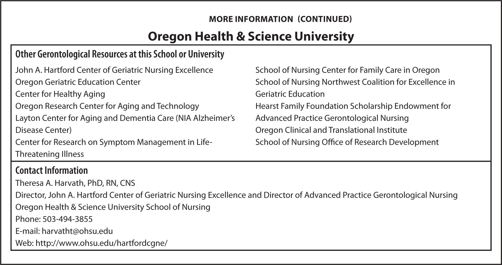 More InformationOregon Health & Science University