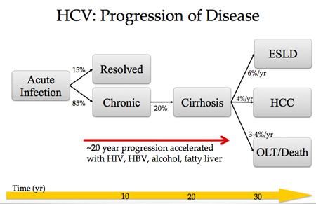 Progression of HCV