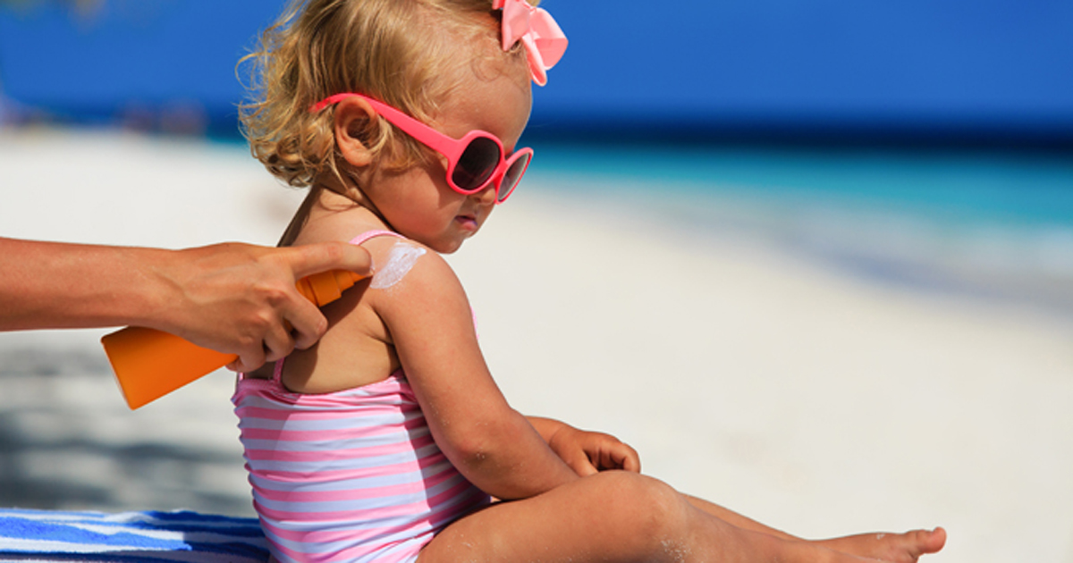 Sunscreen on Toddler