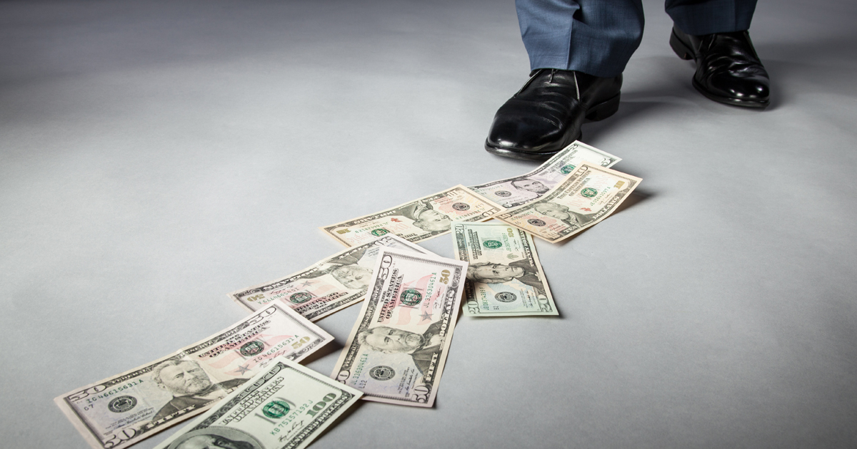 Money on ground
